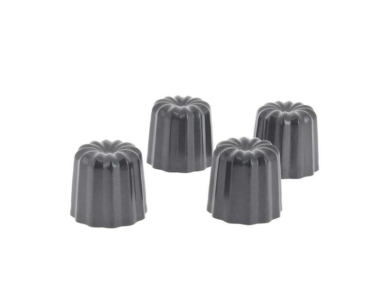 Lot 4 moules à cannelé 5.5 cm en acier anti adhèrent