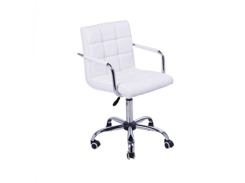 Chaise de bureau white blanc vente de fauteuil de bureau conforama