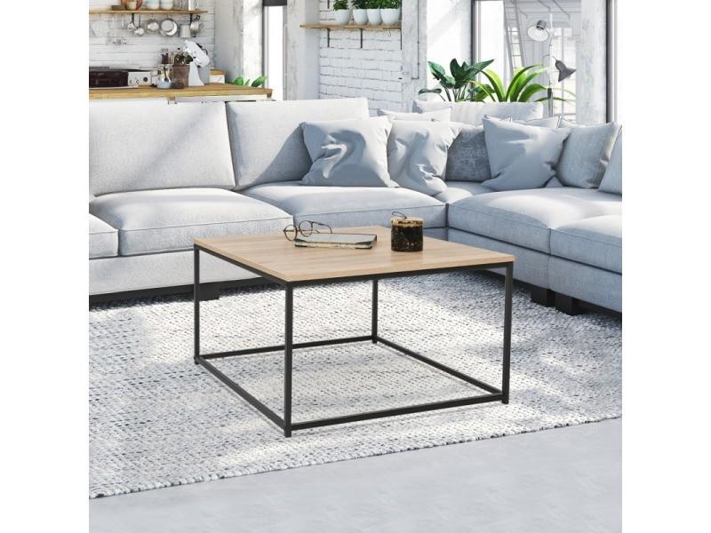 Table basse carrée detroit design industriel