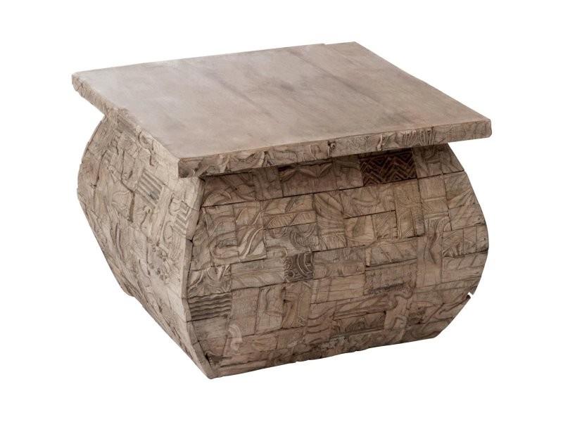 Table basse carrée bois gris batcha 68900
