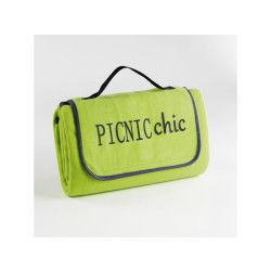 Plaid pique-nique 125x150cm bicolore garden menthe/anthracite