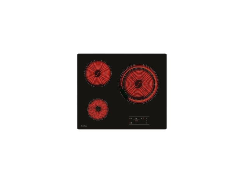 Table de cuisson vitroceramique 3 foyers 60cm