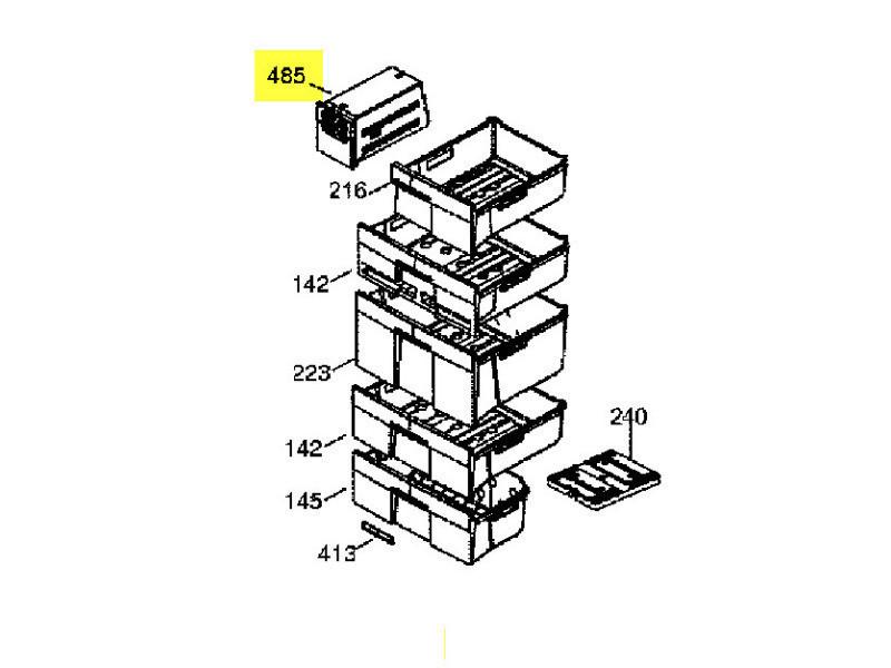 Boitier distributeur de glacons reference : 46x0173
