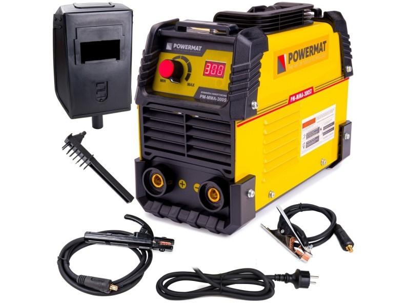 Power tool | poste à souder inverter 20-300a | electrodes 1,6 mm / 4,0 mm | fonctions hot start + anti stick + arc force | jaune