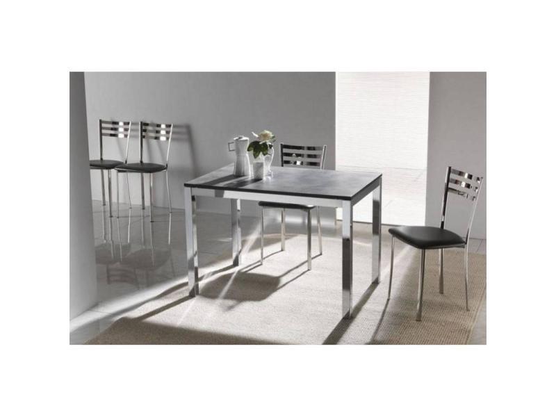 Table repas extensible majestic 130 x 80 cm béton 20100836748