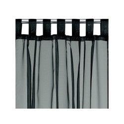 Rideau voile à pattes polyester noir 140 x 240 les ateliers du linge