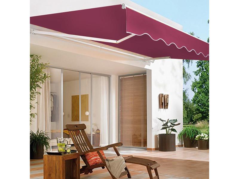 Giantex store banne rétractable 3 x 2,5m avec tissu résistant aux uv et à l'eau, cadre en aluminium pour terrasse