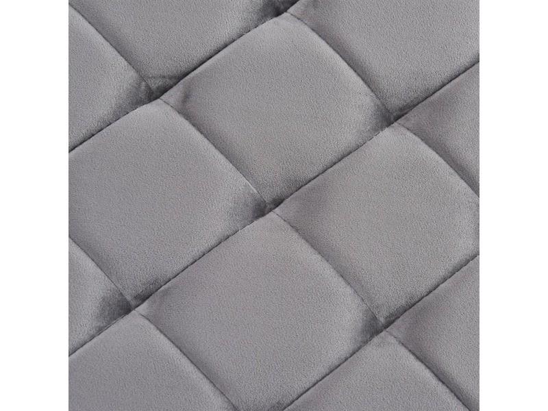 Icaverne - bancs coffres gamme banc 97 cm gris tissu de velours et acier inoxydable