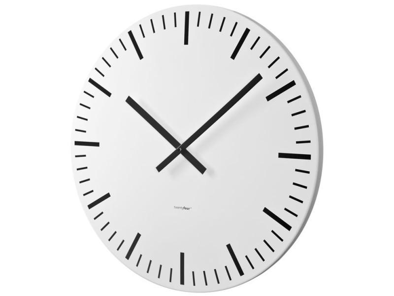horloge murale white station blanche 60cm vente de balvi conforama. Black Bedroom Furniture Sets. Home Design Ideas