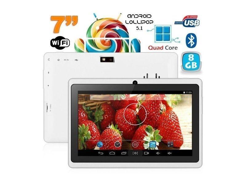 tablette 7 pouces bluetooth quad core android 5 1 lollipop. Black Bedroom Furniture Sets. Home Design Ideas