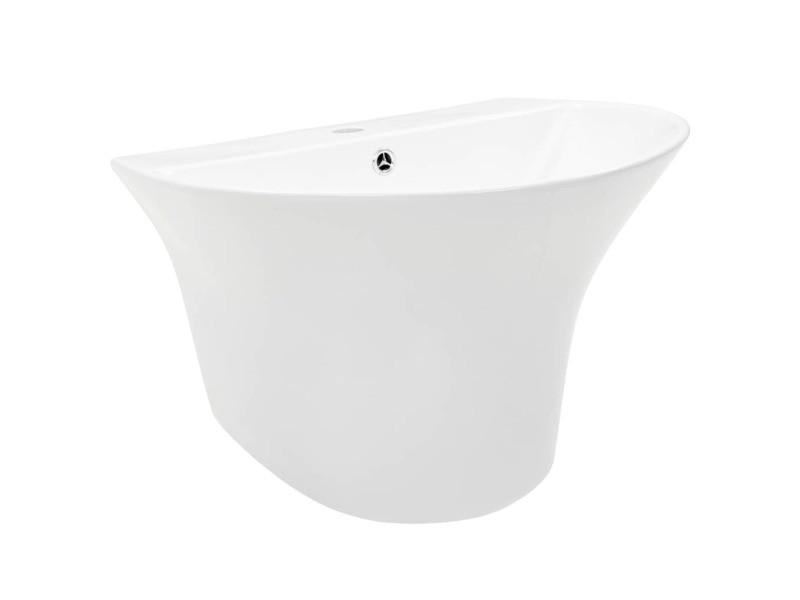Icaverne - lavabos serie lavabo mural céramique blanc 560 x 480 x 420 mm