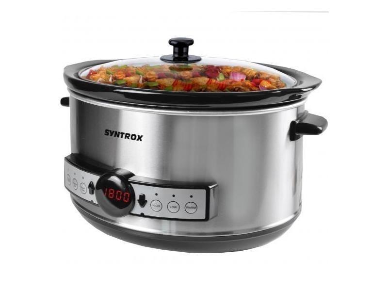 Mijoteuse digital slow cooker 4,5 litres avec minuterie