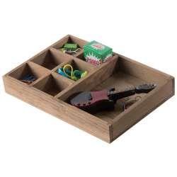 Boîte 7 compartiments en bois « vintage »