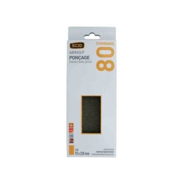 Scid - patin abrasif fixation par pince 93 x 230 mm - grain 80 - lot de 8