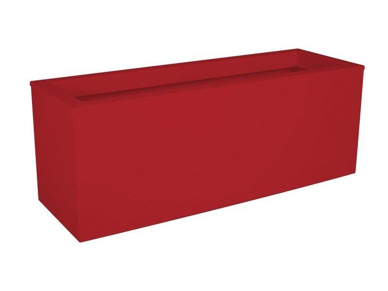 Eda plastique balconniere graphit up - 25 l - 59 x 19,5 x 22,8 cm - rouge rubis