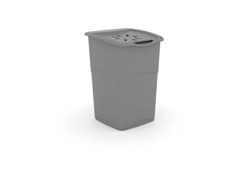 Coffre a linge - 37 x 38 x 53 cm - gris KIS8013183079482