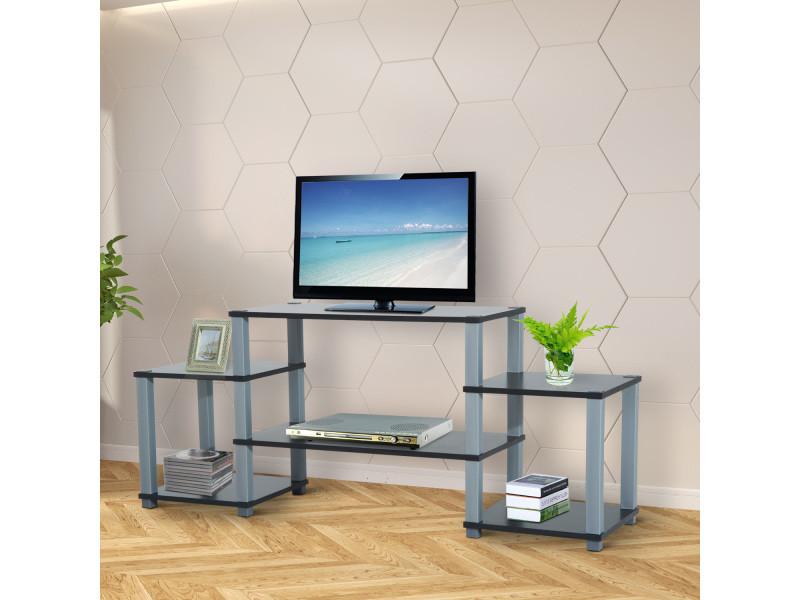 meuble tv design contemporain 6 tag res multi rangements. Black Bedroom Furniture Sets. Home Design Ideas
