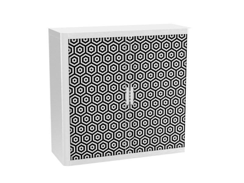 Armoire de bureau métalique porte coulissante h 1m - op art