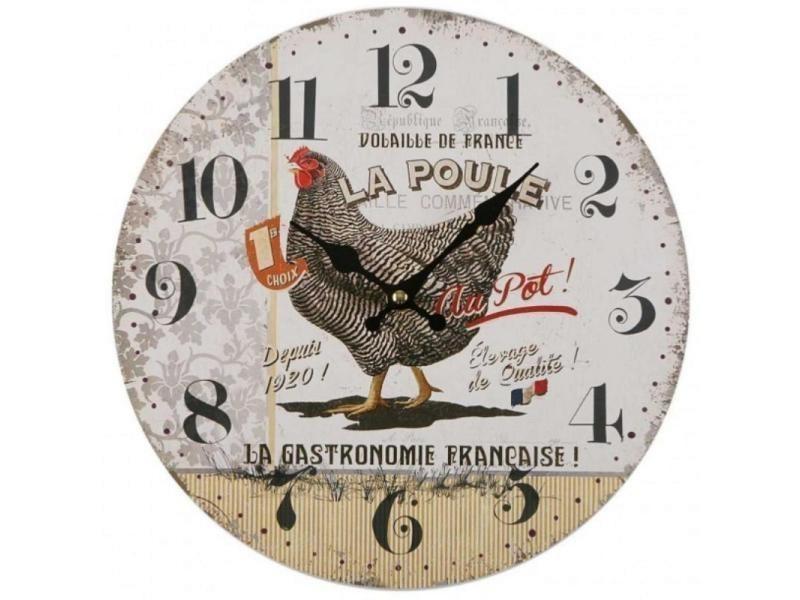 Horloge Murale Poule 28 Cm Conforama