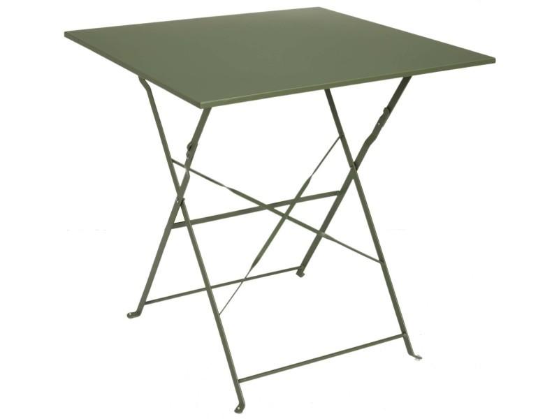 Table de jardin pliante en métal palerme