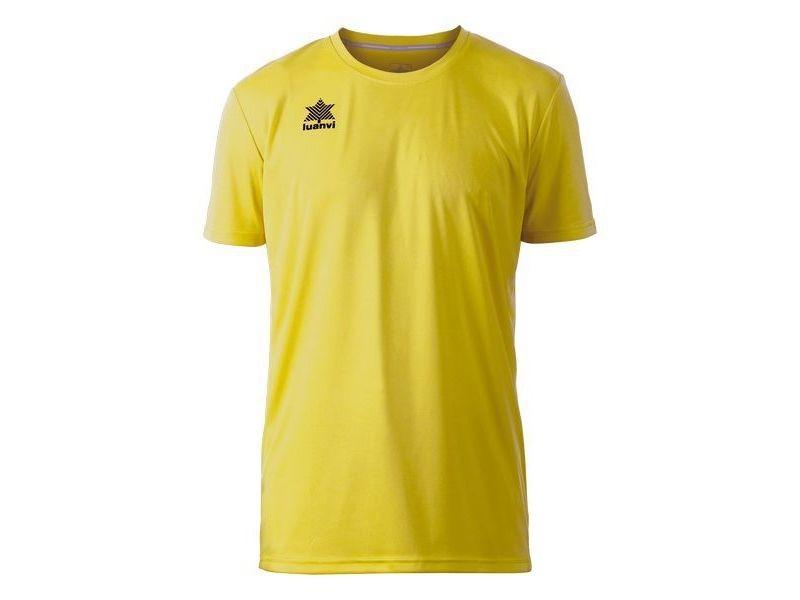 T-shirt de sport stylé taille xl t shirt à manches courtes luanvi jaune