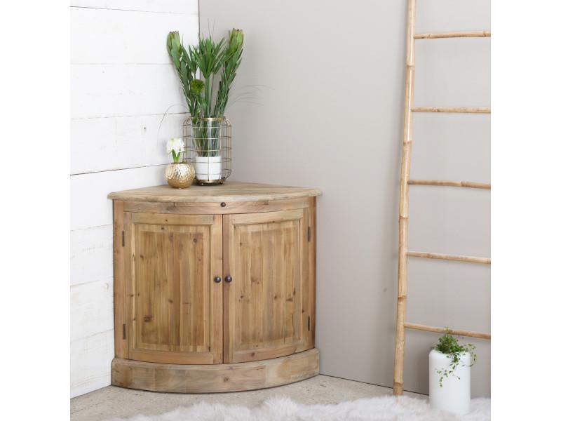 buffet bas d 39 angle en bois massif 2 portes 1 tablette lop213b conforama. Black Bedroom Furniture Sets. Home Design Ideas