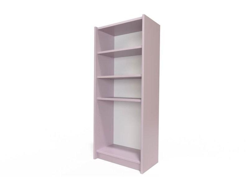 Étagère bibliothèque bois violet pastel ETABIB-ViP