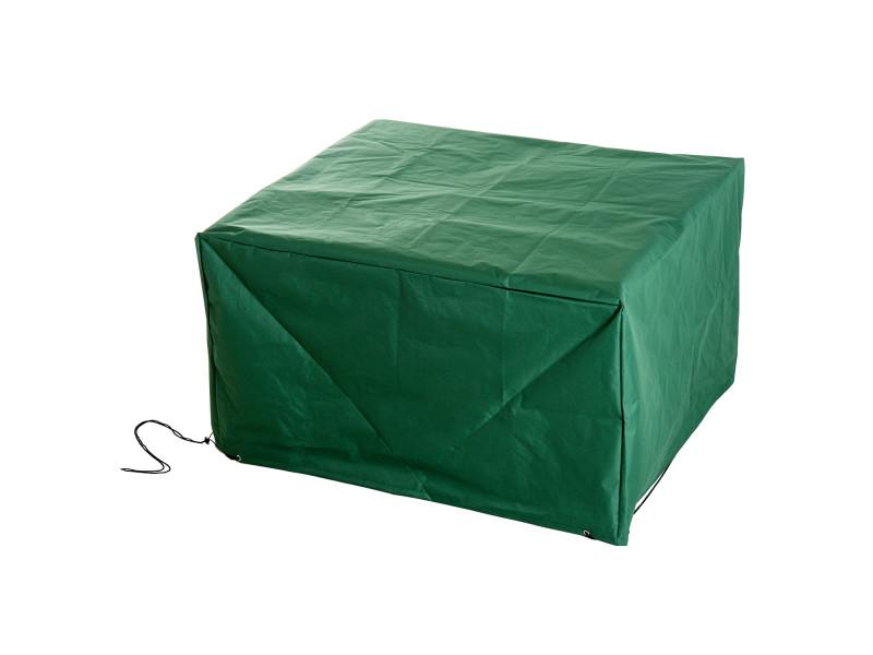 housse de protection etanche pour meuble salon de jardin rectangulaire 135l x 135l x 75h cm vert. Black Bedroom Furniture Sets. Home Design Ideas