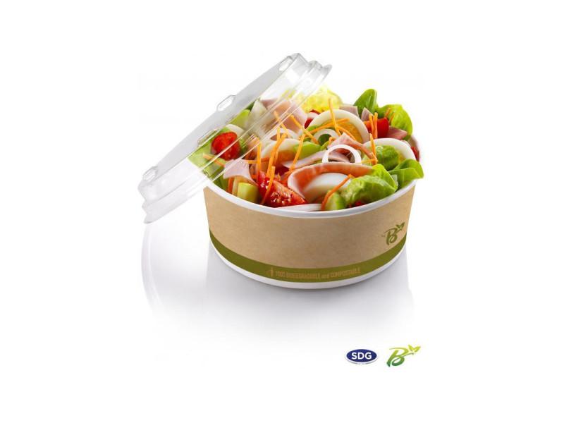 Bol à salade en carton biodégradable 800 ml - sdg - lot de 500 - 14,9 cm carton biodégradable 80 cl