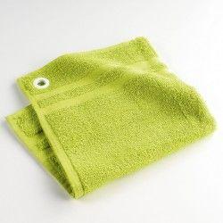 Torchon essuie-main éponge uni petits plats vert 50 x 50 cm