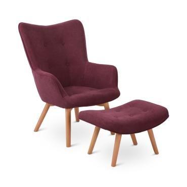 Besoa hagersten class 20 fauteuil design avec repose pieds