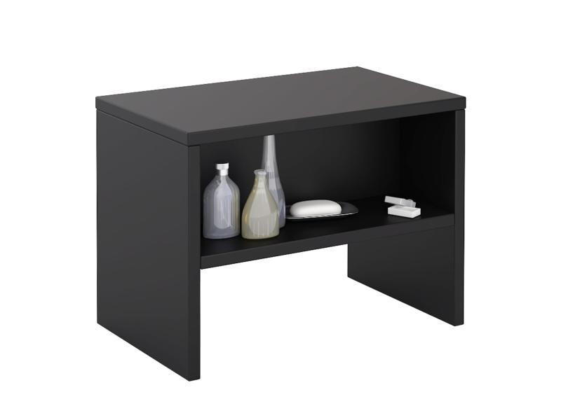 table de chevet dion table de nuit casier m lamin noir. Black Bedroom Furniture Sets. Home Design Ideas