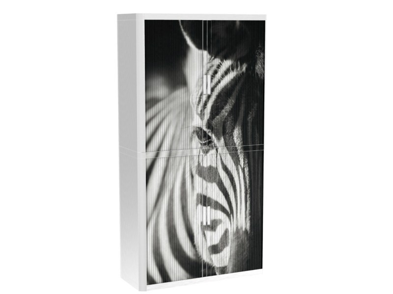 Armoire de bureau métalique porte coulissante h 2m - zebra