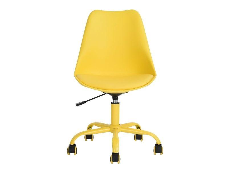 Lokken chaise de bureau jaune vente de altobuy conforama
