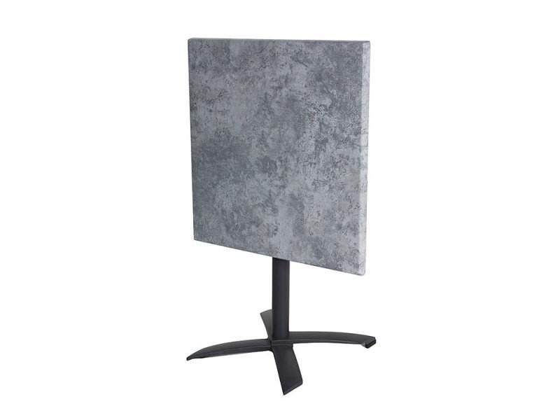 Salon oglio béton table pliante alu + 2 chaises résine tressée ...