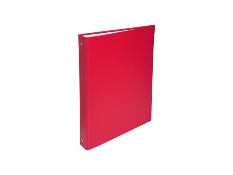 - classeur a anneaux - dos 40 mm - 21 x 29,7 - 4 anneaux - remborde plastique 18/10eme - couleur rouge EXA3130630513759