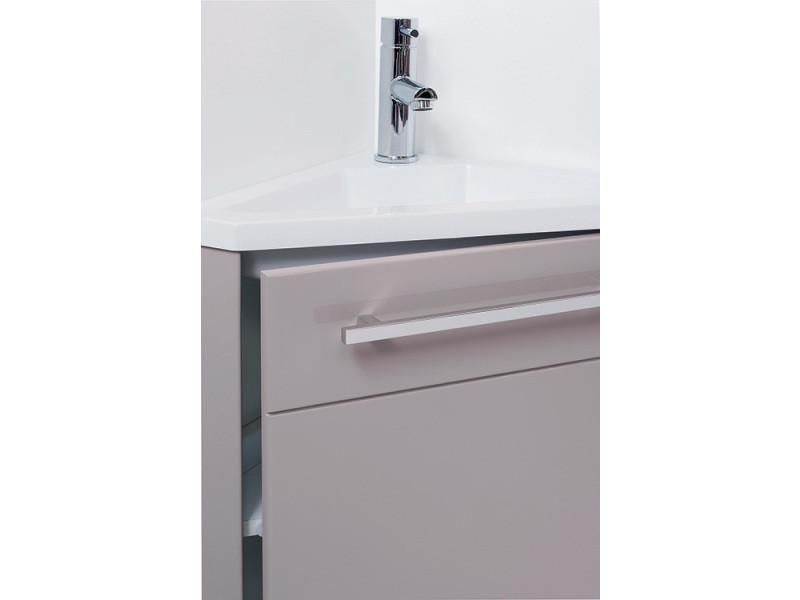 Meuble lave-mains à suspendre d\'angle ninon taupe - Vente de ...