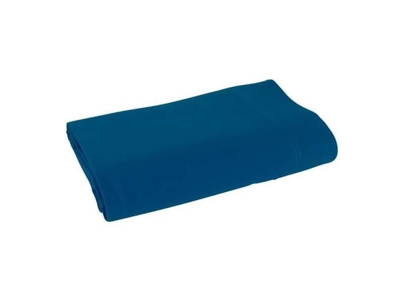 Drap plat palace pur coton teint lavé - couleur: palace marine-palace marine$bleu - taille de drap plat: 270 x 310 cm pour lit king size