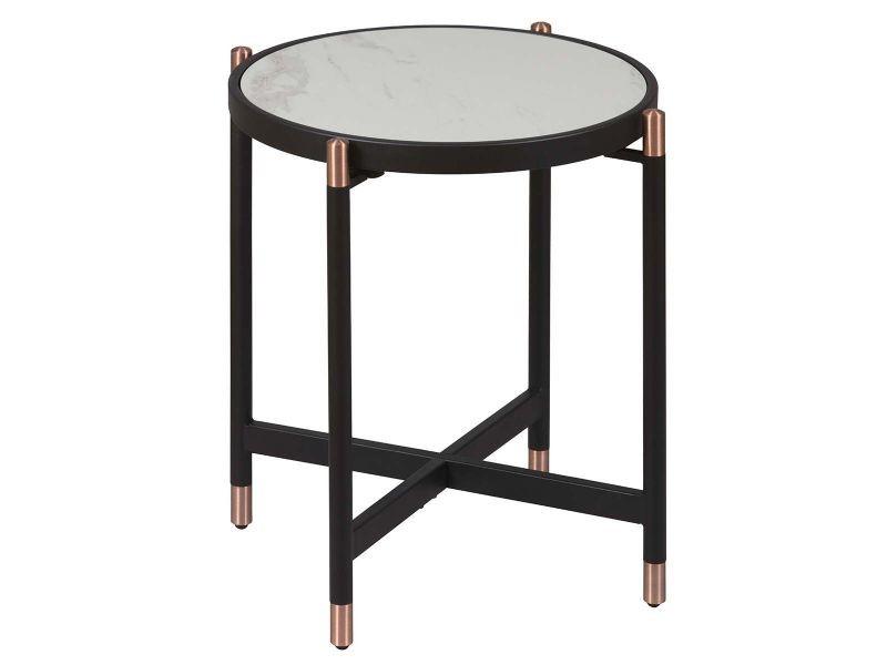 Kobrea - bout de canapé rond métal et céramique