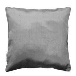 Housse de coussin polyester shantung uni shana gris perle 40 x 40 cm