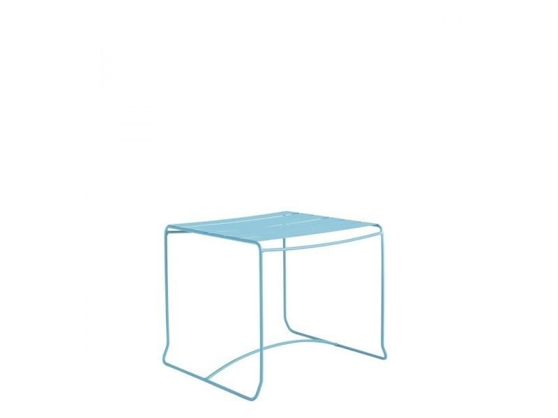 Table basse de jardin métal carrée 50x50 pasadena - couleur ...