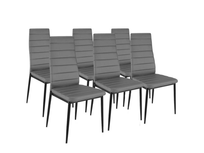 romane grises manger salle à Vente chaises 6 pour Lot de BoCedxr