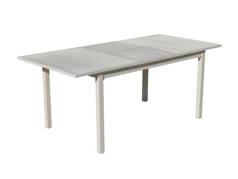 Table a manger sarana e220 en aluminium blanc