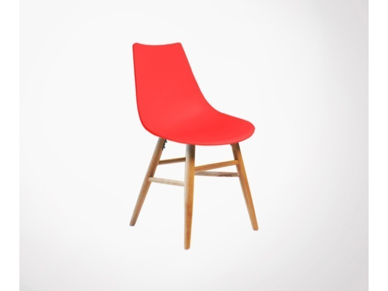 chaise design scandinave pieds bois louisa couleur rouge vente de chaise conforama. Black Bedroom Furniture Sets. Home Design Ideas
