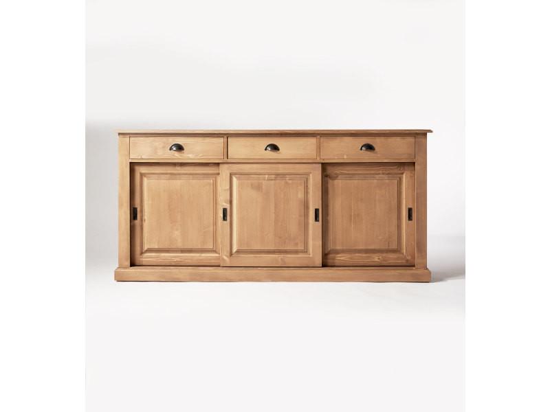 good latest enfilade bois massif portes tiroirs nbois vente de buffet de cuisine conforama with. Black Bedroom Furniture Sets. Home Design Ideas