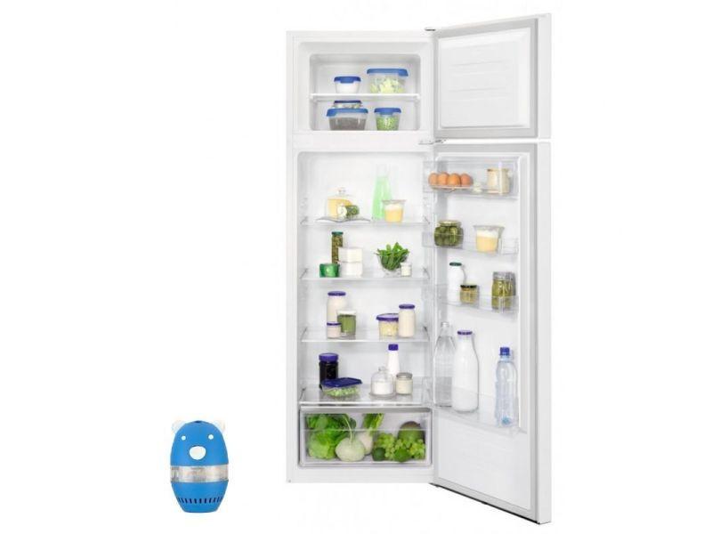 Refrigerateur frigo double porte blanc 242l froid statique optispace