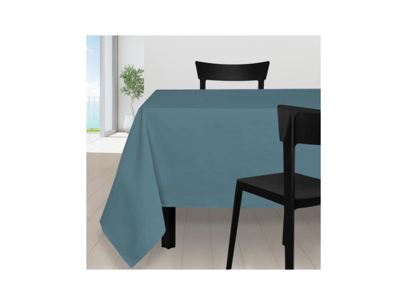 Nappe anti-tâches carrée 180x180 cm alix bleu celadon