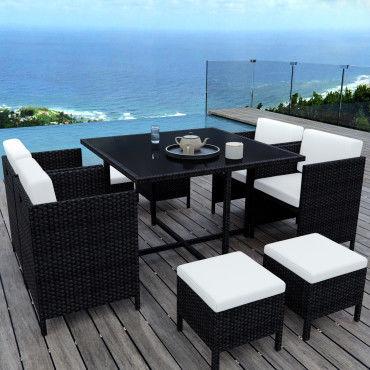 Munga 8 places - ensemble encastrable salon / table de jardin ...