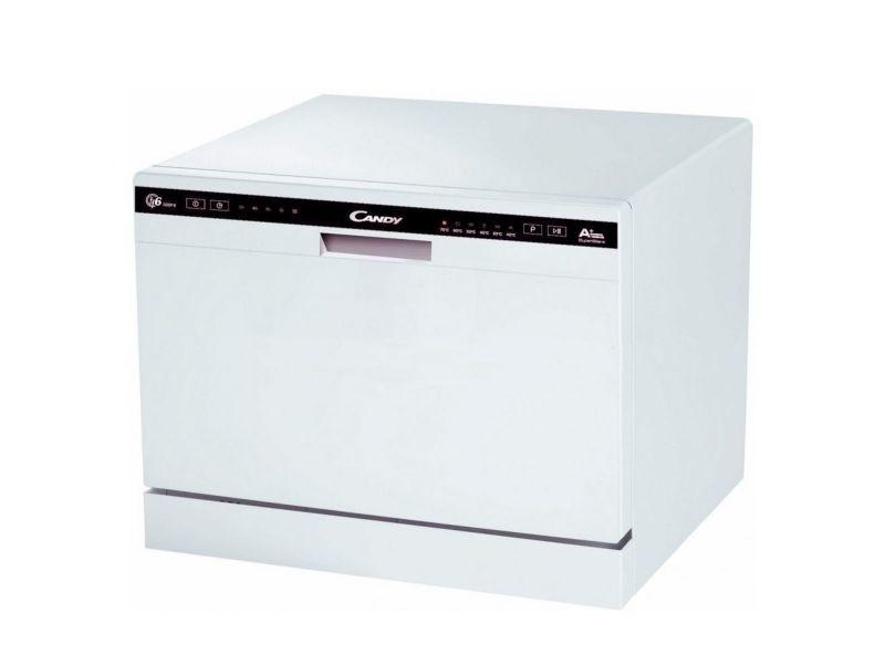 candy lave vaisselle posable blanc 49db a 6 couverts 55cm. Black Bedroom Furniture Sets. Home Design Ideas