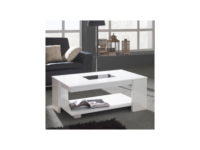 Table Basse Relevable Blanche Dipa L 110 X L 60 X 44 59